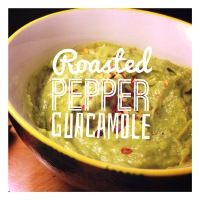 Roasted pepper guacamole